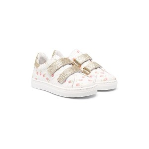 Monnalisa floral-print touch strap sneakers - ホワイト