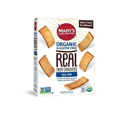 Mary's Gone Crackers Real Thin Crackers, Made with Real Organic Whole Ingredients, Gluten Free, Sea...