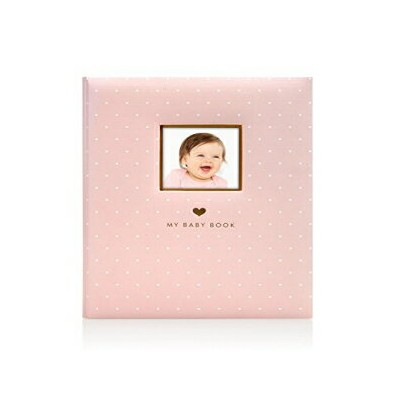 Little Blossoms by Pearhead Sweet Welcome Keepsake Baby Memory Book, Pink