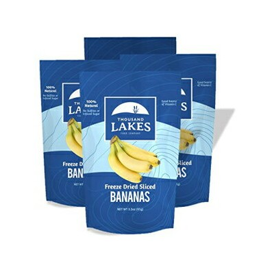 Thousand Lakes Freeze Dried Fruit and Vegetable Snacks - Banana 4-pack 3.2 oz (12.8 oz total)