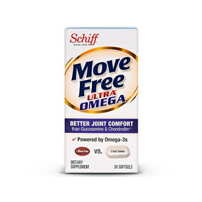 Schiff Move Free Ultra Omega Omega 3 Krill Oil, Hyaluronic Acid and Astaxanthin Joint Supplement, 30 ct (Pack of 2)