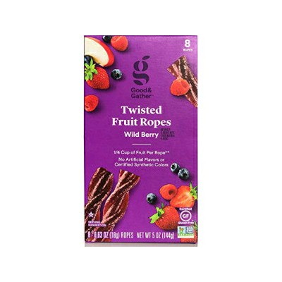 Twisted Fruit Strips Fruit Leathers Healthy Snack Made with Real Fruit Puree Concentrate Good and...