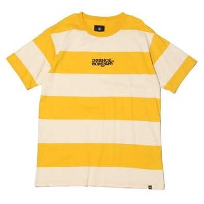 DC SHOES DC SHOES UPTOWN STRIPE TEE アトモスピンク カットソー Tシャツ イエロー【送料無料】