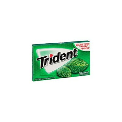 Trident Spearmint Sugar-Free Gum (15 pk.) (2 Pack)