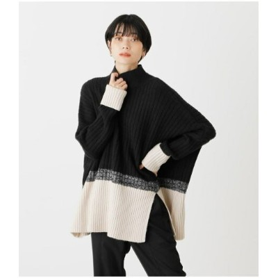 【SALE/50%OFF】AZUL by moussy COMBINATION LOOSE KNIT アズールバイマウジー ニット ニットその他 ブラック イエロー ブラウン