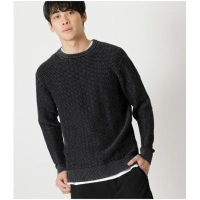 【SALE/50%OFF】AZUL by moussy HONEYCOMB STONE WASH KNIT アズールバイマウジー ニット ニットその他 ブラック ピンク グレー