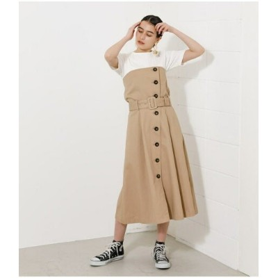 【SALE/58%OFF】AZUL by moussy 2WAY TRENCH BARE ONEPIECE アズールバイマウジー ワンピース 5ー9分袖ワンピース ホワイト