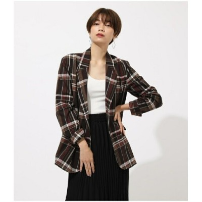 【SALE/50%OFF】AZUL by moussy CHECK TAILORED JACKET アズールバイマウジー コート/ジャケット コート/ジャケットその他 ブラウン