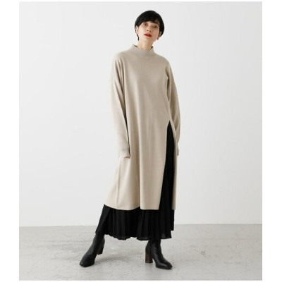 【SALE/50%OFF】AZUL by moussy PLEATS LAYER KNIT ONEPIECE アズールバイマウジー ワンピース 5ー9分袖ワンピース ホワイト
