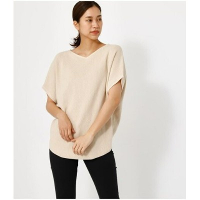 【SALE/66%OFF】AZUL by moussy HALF SLEEVE 2WAY KNIT TOPS アズールバイマウジー ニット ニットその他 ホワイト ピンク