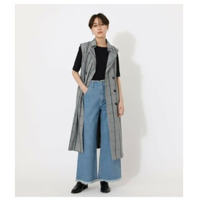【SALE/64%OFF】AZUL by moussy LOOSE TRENCH VEST アズールバイマウジー コート/ジャケット ベスト グレー