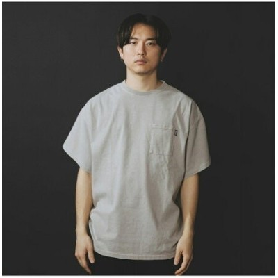 atmos CHEMICAL WASH BIG TAPERED POCKET TEE アトモスピンク カットソー Tシャツ ベージュ【送料無料】