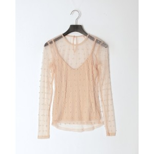 GUESS ERICA TOP○W93P59K8RX0 ピーチ トップス
