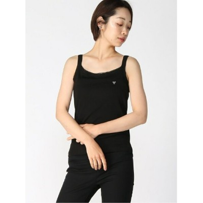 【SALE/40%OFF】GUESS (W)KNIT TANK TOP ゲス カットソー タンクトップ ブラック ホワイト