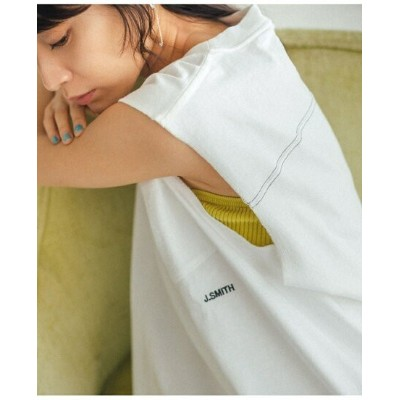 【SALE/50%OFF】ADAM ET ROPE' FEMME 【CAMBER*JANE SMITH】ロゴノースリーブ アダムエロペ カットソー カットソーその他 ホワイト【送料無料】