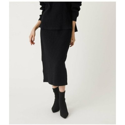 【SALE/50%OFF】AZUL by moussy BIG THERMAL TIGHT SKIRT アズールバイマウジー スカート スカートその他 ブラック
