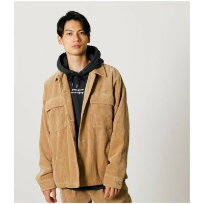【SALE/50%OFF】AZUL by moussy CORDUROY CPO JACKET アズールバイマウジー コート/ジャケット コート/ジャケットその他 ブラック ホワイト