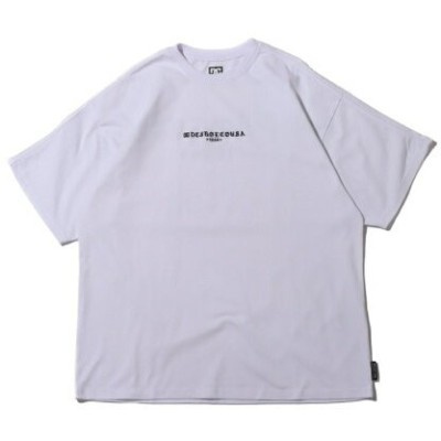 DC SHOES DC SHOES 21 15S WIDEDROP GOTHIC SS アトモスピンク カットソー Tシャツ ホワイト【送料無料】