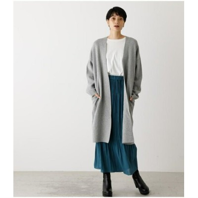 【SALE/50%OFF】AZUL by moussy TOPPER CARDIGAN アズールバイマウジー ニット カーディガン グレー