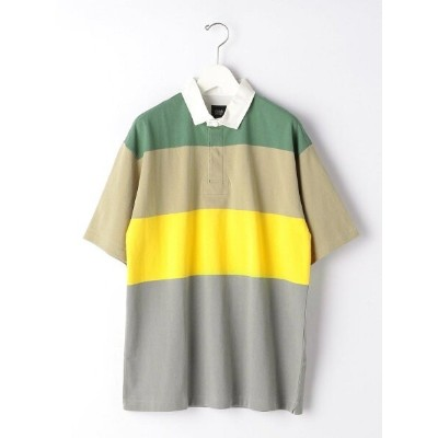 【SALE/50%OFF】UNITED ARROWS green label relaxing  GLR/ lab  パネルボーダー ラガーシャツ 半袖 カットソー ユナイテッドアローズ...