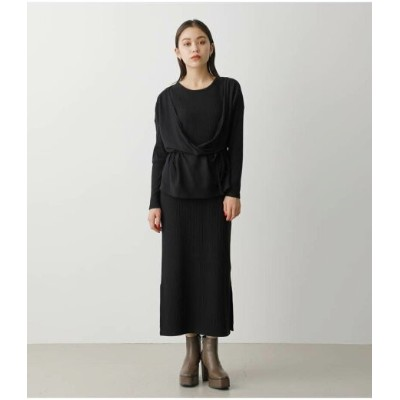 AZUL by moussy MULTIWAY CD SET ONEPIECE アズールバイマウジー ワンピース 5ー9分袖ワンピース ブラック ホワイト レッド【送料無料】