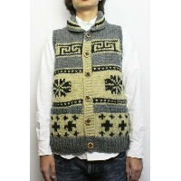 カナタ kanataカウチンニット ベスト 雪柄SNOW & CROSS COWICHAN VEST(COLOR : OATMEAL / CHACOAL)【05P06Aug16】