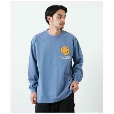 JOURNAL STANDARD 【YOUTHLESS * JS】ニコチャン フロント 刺繍ロンT ジャーナル スタンダード カットソー Tシャツ ホワイト【送料無料】
