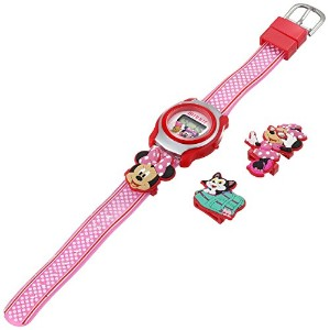 ディズニー 腕時計 キッズ 時計 子供用 ミニー Disney Kids' MINKD545 Minnie Mouse Digital Display Quartz Pink Watch
