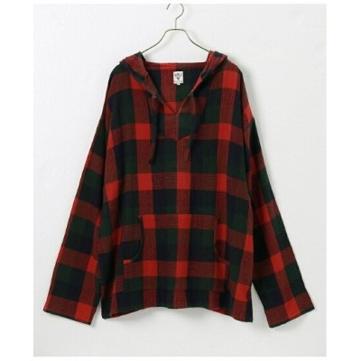JOINT WORKS 【South2 West8 / サウスツーウエストエイト】Mexican Parka - Plaid Pique ジョイントワークス カットソー パーカー【送料無料】