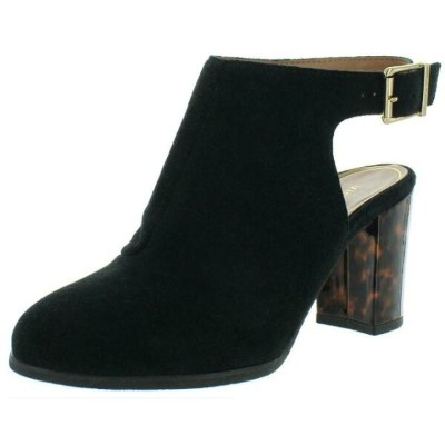 Vionic シューズ ブーティ Vionic Womens Lacey Tortoise Suede Slingback Ankle Strap Booties Shoes