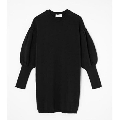 VOLUME SLEEVE KNIT ONEPIECE/アズールバイマウジー