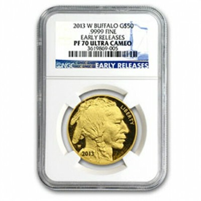 2013年 -W 1 oz バッファロー金貨 PF-70 NGC Early Releases