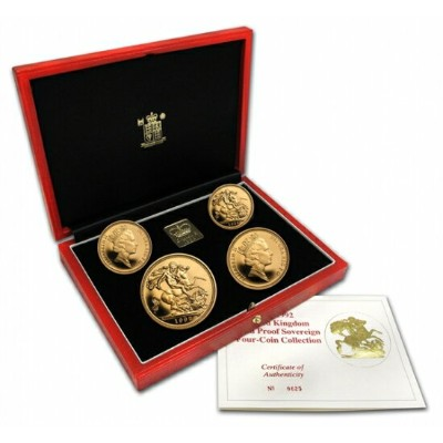 Great Britain 1992 Sovereign Gold 4 Coin Proof Set