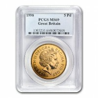 Great Britain 1998 Gold 5 Pounds Sovereign PR-69 DCAM PCGS