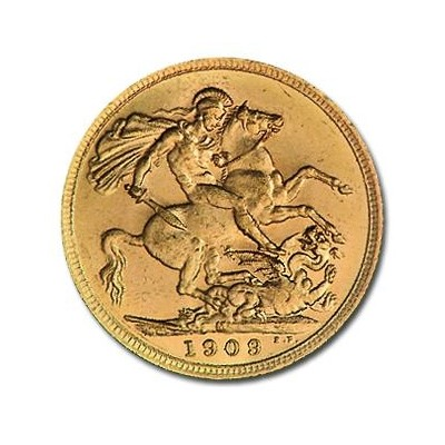 Great Britain Gold Sovereign Edward VII - Unc. (.2354 AGW) クリアーケース付き