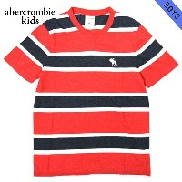 【25%OFFセール 5/25 10:00~5/30 23:59】 アバクロキッズ AbercrombieKids 正規品 子供服 ボーイズ 半袖Tシャツ striped v-neck tee...