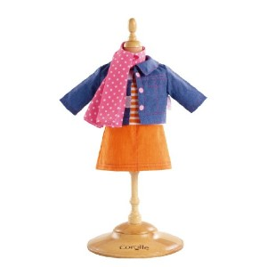 コロール ドールファッション Corolle Miss Corolle Classic Dolls Skirt and Denim Jacket Set