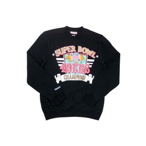 MITCHELL&NESS CREW NECK SWEAT (Champion /San Francisco 49ers: Black)ミッチェル&ネス/クルーネックスウェット/黒