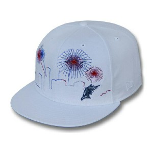 NEW ERA FLORIDA MARLINS 【CITY-SKYLINE FIREWORKS/WHT】ニューエラ フロリダ マーリンズ 59FIFTY フィッテッド キャップ FITTED CAP...