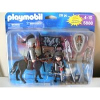 プレイモービル 5888 Playmobil Knights with Horse, Armor and Accessories 28 Piece Playset 5888