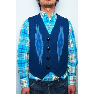 ORTEGA'S CHIMAYO VEST(COLOR : NAVY / SIZE : 36)【05P03Sep16】