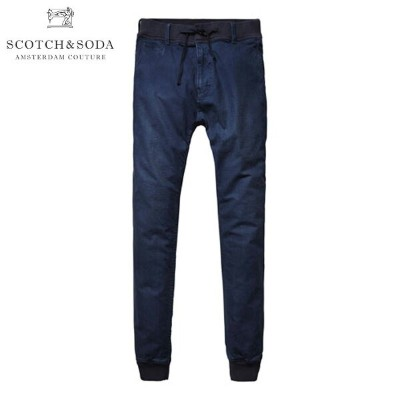 スコッチアンドソーダ SCOTCH&SODA 正規販売店 メンズ チノ Sweatpant inspired chino with rib at waistband & bottomhem....