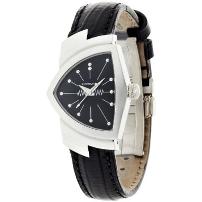 ハミルトン ベンチュラ レディース 腕時計 Hamilton Women's H24211732 Ventura Analog Display Quartz Black Watch