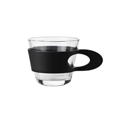 Stelton ステルトン イージー エスプレッソカップ x-150-1 Easy Espresso Cups, Glass and Rubber