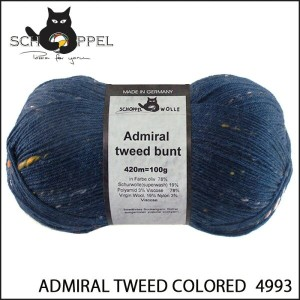 SCHOPPEL 靴下用毛糸 ADMIRAL TWEED COLORED 4993