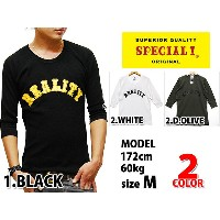 送料無料 SPECIAL ONE CLOTHING MO'S REALITY 1/2 THEMAL L/S T-SHIRTS 3COLOR BLK/WHT/D.OLV スペシャルワン ラグラン...
