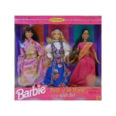 BARBIE DOLLS OF THE WORLD COLLECTION GIFT SET - 3 DOLLS 1995