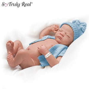 Linda Webb Charlie Anatomically Correct So Truly Real Lifelike Baby Doll by Ashton Drake アシュト