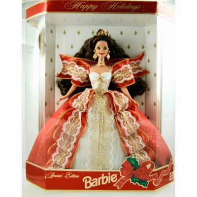 Happy Holidays 1997 Special Edition Barbie バービー, Brunette 10th Anniversary 人形 ドール
