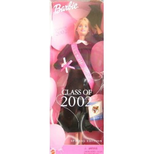 Barbie バービー Class of 2002 Special Edition Doll w Black Grad Gown (2001) 人形 ドール